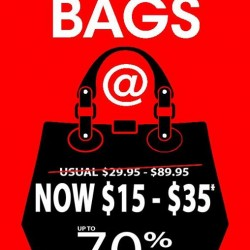 Up to 70% Off Bags @ Bata