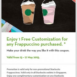 Customize your Starbucks Frappuccino with this coupon
