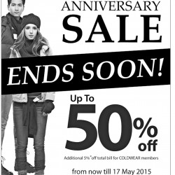 Anniversary sale up to 50% off @ Coldwear