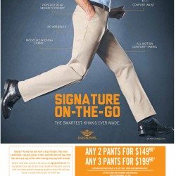 Men's pants promotion @ Dockers