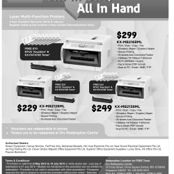 All-in-one printers promotion @ Panasonic