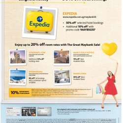 50% off hotel booking with MayBank @ Expecia