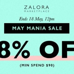 May Mania Sale with min spend $90 @ Zalora