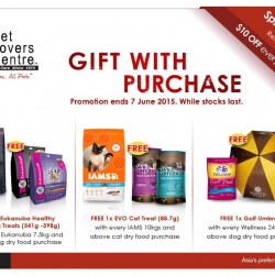 Gift with Purchase @ Pet Lovers Centre