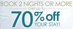 Book 2 nights and more get up to 70% off your stay @ Ctrip