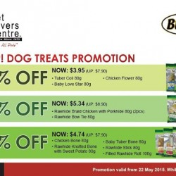 Dogs Treats Promotion @ Pet Lovers Centre