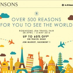 Up to 60% off on travel gears @ Jem Robinsons