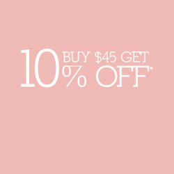 Enjoy 10% off with $45 spend @ Cache Cache