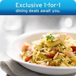 1-for-1 dining deals with Citibank Cards