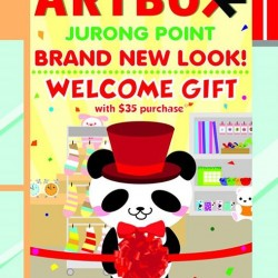 Spend $35 and get a free welcome gift @ ArtBox Jurong Point outlet