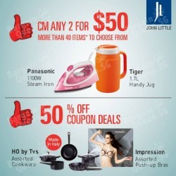 Cardmembers get to purchase any two household items for just $50 @ John Little