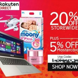 20%  + 5% off @  Rakuten Direct on Rakuten with Master Card