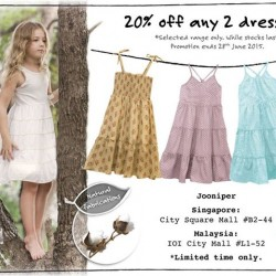 Enjoy 20% off any 2 dresses @ Jooniper