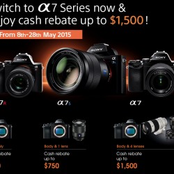 Enjoy cash rebate up to S$1500 for α7 series