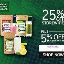 25% + 5% off @ Natural Healthy Standard via Rakuten