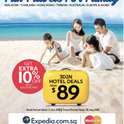 Fun Travels For Family: Extra 20% Off with MasterCard @ Expedia