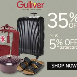 35% OFF + 5% OFF with MasterCard on Gulliver @ Rakuten