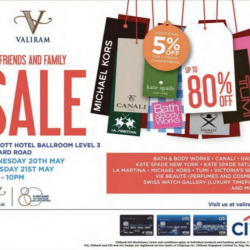 Valiram Friends and Family Sale @ Marroitt Hotel