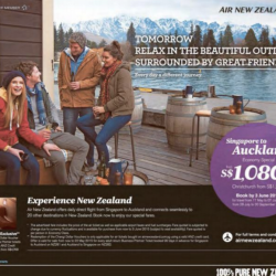 Singapore to Auckland from $1080 @ Air New Zealand