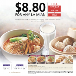 $8.8 For Any La Mian @ Crystal Jade