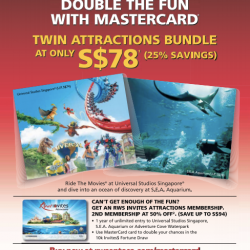 Twin Attraction Bundle At Only S$78 With MasterCard @ RW Sentosa
