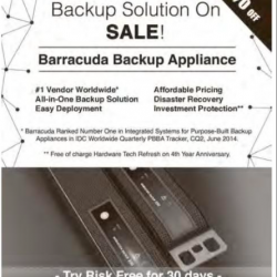 Backup Solution sale @ Barracuda Backup Appliance