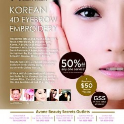 GSS Special - Enjoy 50% Discount Off Any One Service @ AvonE Beauty Secrets