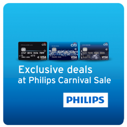 Exclusive deals for CitiBank Card @ Philips Carnival Sale