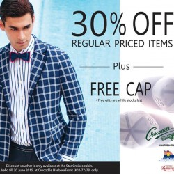 30% Off Regular Priced Items + Free Cap @ Crocodile