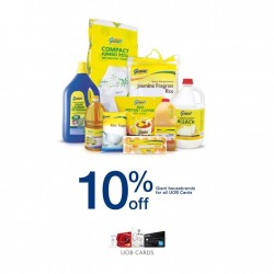 10% off Giant house brands products with UOB Cards