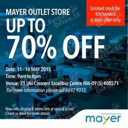 UP TO 70% OFF @ MAYER Outlet Store