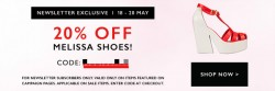 Something Borrowed sale +Melissa 20% Off @ Zalora