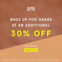 Zalora: 30% off bags sale