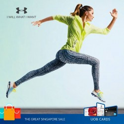 Under Armour: $15 off for every $120 spent with UOB cards