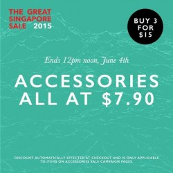 Zalora: accessories all at $7.9