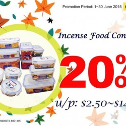 Japan Home: Incense Food Containers on 20% OFF