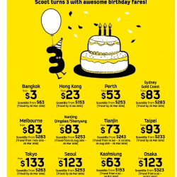 Scoot: 3rd anniversary sale