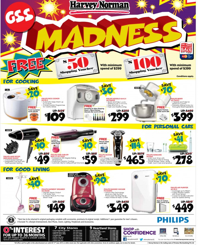 Harvey Norman: GSS madness sale