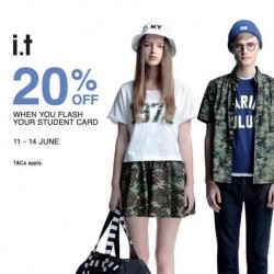 i.t Labels Singapore: 20% off for students