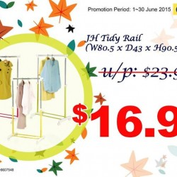 Japan Home: Clothes Hanging Rail at S$16.90
