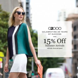 G2000: Summer arrivals with 15% off