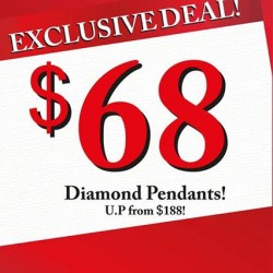 CITIGEMS: Dazzling diamond pendant at S$68
