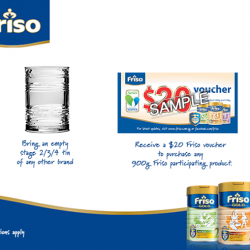 Friso: Receive a $20 Friso voucher in exchange for an empty tin