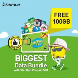 Starhub: Prepaid SIM offer 100GB mobile data but only for first 5 days