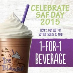 The Coffee Bean & Tea Leaf: 1-For-1 Beverage