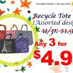 Japan Home: Recycle tote bags any 3 for $4.90