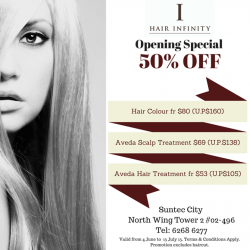Hair Infinity: Opening Special Promotion 50% off