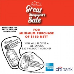 Mt Sapola: $20 Voucher for AMEX and Citibank cardholders