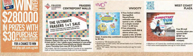 Some latest deals at Great Singapore Sale