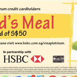 HSBC Visa Platinum Credit Card: Free Kid's Meal at Swensens